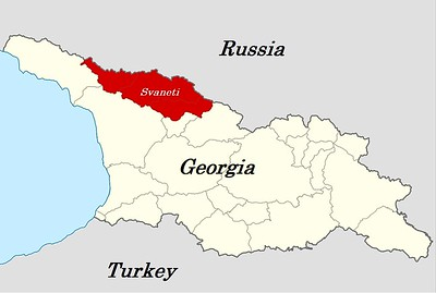 Svaneti is located on the border of Georgia and Russia.