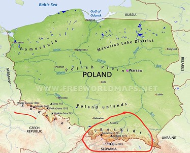 The Tatra Mountains are located on the southern border of Poland.