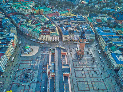 The main square in old Krakow