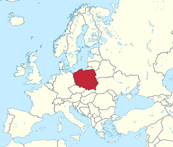 Poland is in the middle of Europe