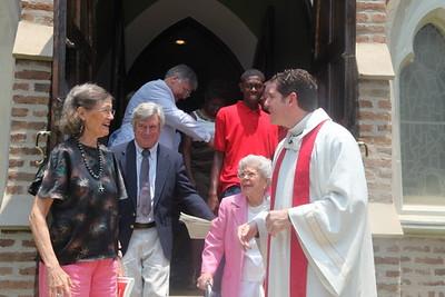 TEC13 - Fr. Corkern Greeting Parishioners