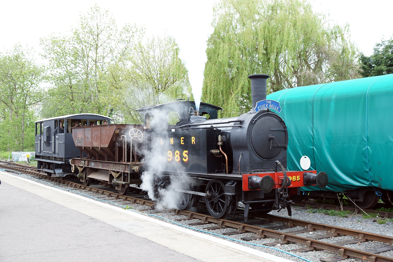 ST 985 Dar 0-4-0T 26,04,2015 (Visitor From Beamish)