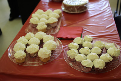 yummy cupcakes on the bake sale table