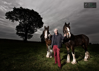 Shire Horses & Owner