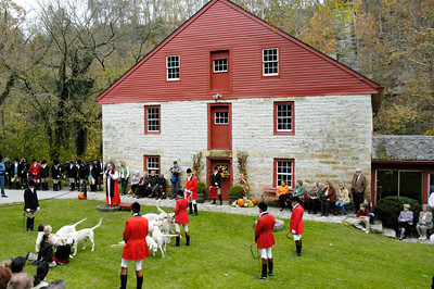 Annual blessing of the foxhounds, horses, and riders at the Iroquois Hunt Club