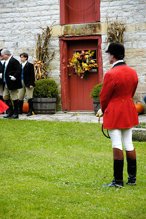 Annual blessing of the fox hunting hounds, horses, and riders at the Iroquios Hunt Club in Lexington, Kentucky USA. The event marks the beginning of the hunting season and follows the tradition of honoring Saint Hubert, the patron saint of hunters.