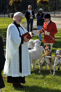 Blessing of the Hounds event for the Iroquois Hunt in Kentucky