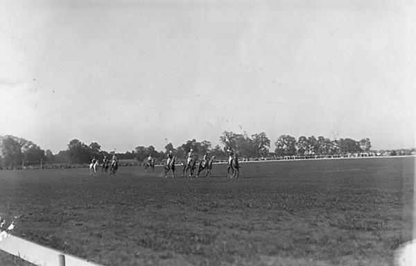 Title: Fayette County, Kentucky. Iroquois Hunt Club. Polo at Iroquois Hunt Club polo grounds. Date: 1900-1954 Collection: C. Frank Dunn Photographs Collection, 1900-1954, bulk 1920-1940