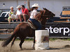 Marie Claude Paradis  4-D BARRELS 2nd Run and EXHIBITION RUNS on Sat. July 10, 2010
