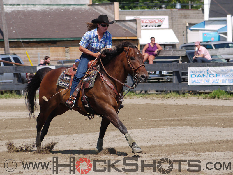 Carole Lampon on Hez On The Money , 4-D BARRELS - 1st Run on Saturday July 10, 2010