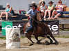 Carole Lampon on Hez On The Money  4-D BARRELS 2nd Run and EXHIBITION RUNS on Sat. July 10, 2010