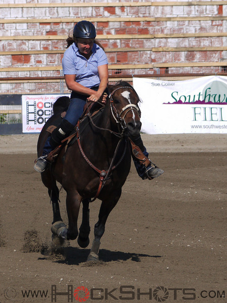 Laurie Fisher on Baileys Native Dash , 4-D BARRELS - 1st Run on Sunday July 11, 2010