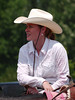 Missy Wilson waits for her run.  4-D BARRELS 2nd Run and EXHIBITION RUNS on Sat. July 10, 2010