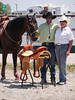 Rock Beaupre receiving award with Dallars On Fire , 2010 ECBF Futurity Barrels