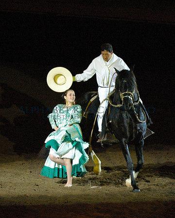 Roberto Quijandria, with L.E.A. Conquistador (Peruvian Paso), and Ashley Crawford