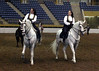 Tracy and Kelly Vale on their PRE stallions Nobel and Royale