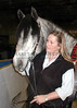 Jan Wascher with her Andalusian (PSP) stallion, Ciclon
