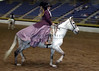 Amy Star riding her Andalusian mare, Dama A