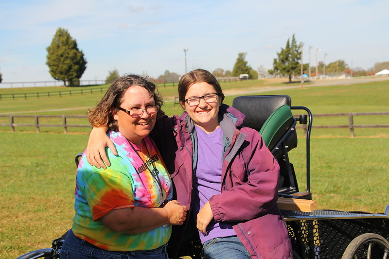 Julie Sanders and daughter, Kaitlyn  relaxing after planing Friday's Critter Safari.