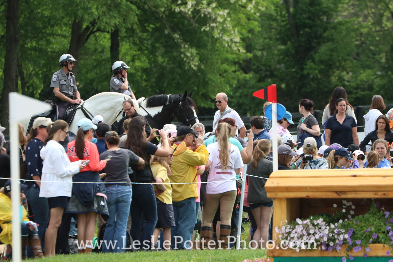Police Horse Crowd Control at the Rolex Kentucky Three-Day Event