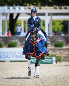 Jennifer Schrader-Williams and Millione during the Grand Prix Freestyle Test (Grand Prix Championship) at the U.S. Dressage Festival of Champions.