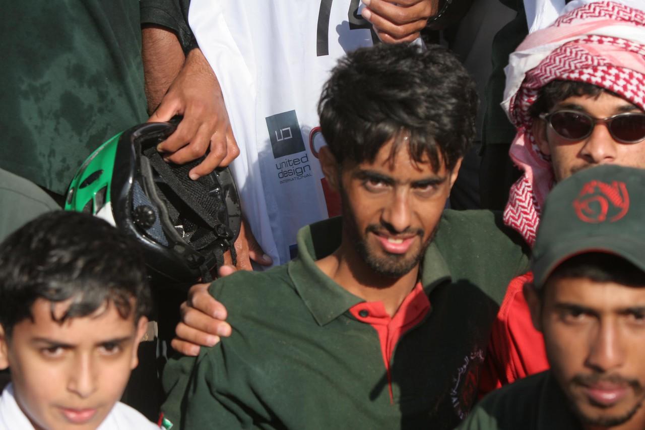 Surrounding the winner...Marzooq Salem Al Marri (UAE)