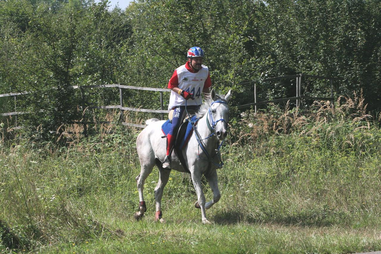US rider, Carl Bruno on Alisma