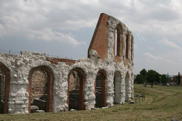 The ancient Roman Theatre ruins