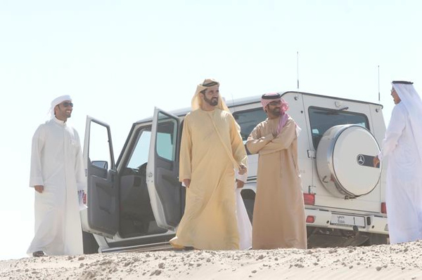 20. Sh Mohammed bin Rashid Al Maktoum watches for his sons on the course
