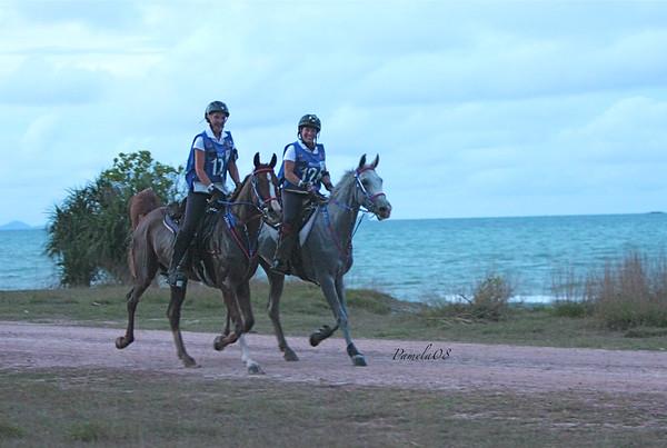 Brunjes and Kanavy at twilight at the South China Sea.