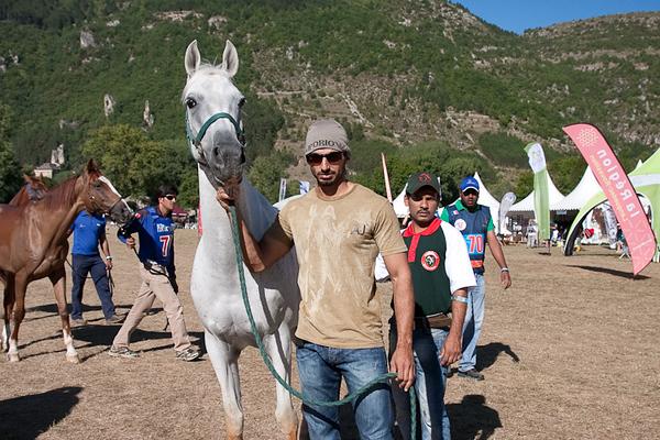Ali Al Jahouri and Kalifa from Al<br /> Wathba,  later to win the Open