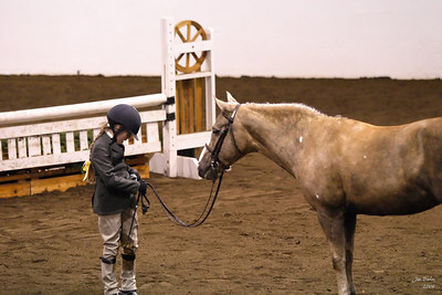 Natalie and 14Karat (Mattie) in the Pony Hunter Conformation class.