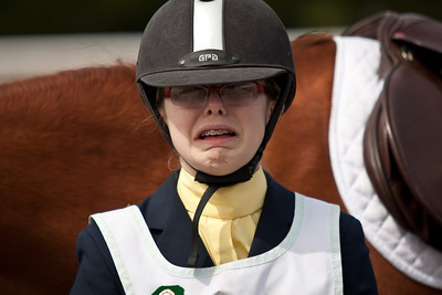 When you realize your horse just slobbered on your clean jacket right before a formal inspection.