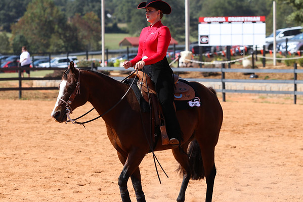 Georgia's Sammie Johnson rides Otto during a meet at the UGA Equestrian Complex  (Photo by Cory A. Cole / Georgia Sports Communication)