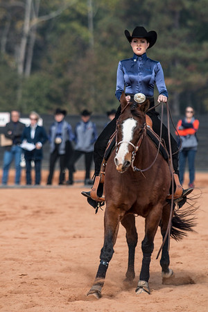 Members of the Auburn Equestrian team during the Bulldogs' meet with Auburn at the UGA Equestrian Complex in Bishop, Ga., on Friday, Nov. 11, 2016. (Photo by John Paul Van Wert)