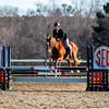 A member of the Delaware State equestrian team during the Bulldogs' competition with Delaware State at the UGA Equestrian Complex in Bishop, Ga., on Saturday, February 4, 2017. (Photo by John Paul Van Wert)