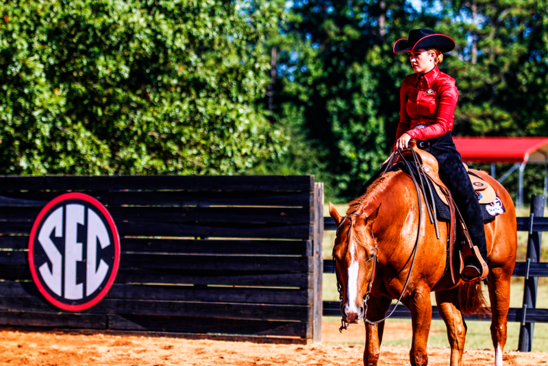 UGA equestrian team rider and horse (photo from Georgia Sports Communication)