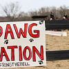 A Dawg Nation sign during the Bulldogs' competition with South Carolina at the UGA Equestrian Complex in Bishop, Ga., on Friday, February 3, 2017. (Photo by Cory A. Cole)