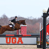 Georgia's Maddy Darst rides Lola during the Bulldogs' competition with South Carolina at the UGA Equestrian Complex in Bishop, Ga., on Friday, February 3, 2017. (Photo by Cory A. Cole)