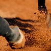 Horses hooves churn up dirt during the Bulldogs' meet with Tennessee-Martin at the UGA Equestrian Complex in Bishop, Ga., on Saturday, Oct. 22, 2016. (Photo by John Paul Van Wert)