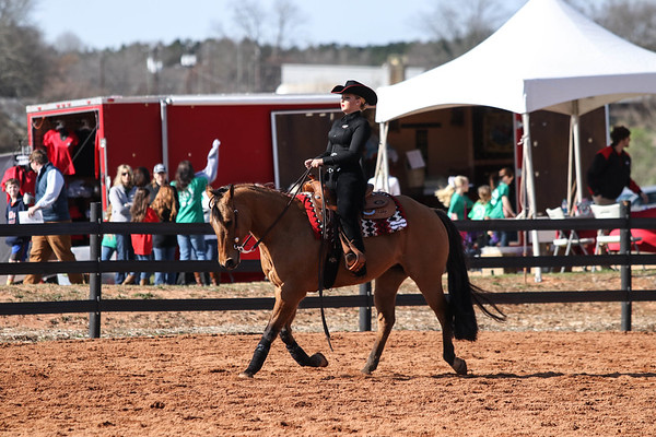 Georgia's Bailey Anderson with Dungaree during a Bulldogs' equestrian meet at the UGA Equestrian Complex in Bishop, Georgia. (Photo by Cory Cole / Georgia Sports Communication)