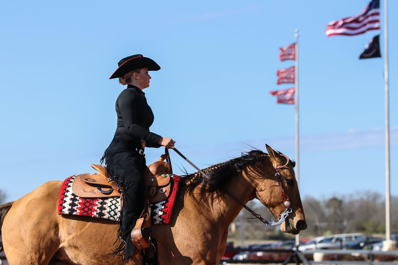 Georgia's Bailey Anderson with Dungaree during a Bulldogs' equestrian at the UGA Equestrian Complex in Bishop, GA. (Photo by Cory Cole / Georgia Sports Communication)
