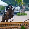 WELLINGTON, FLORIDA - JANUARY 27, 2017: An unidentified rider jumps in the Winter Equestrian Festival during Week 3 at the Palm Beach International Equestrian Center in Wellington, Florida.