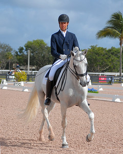 WELLINGTON, FLORIDA - February 11, 2018: Adequan Global Dressage Festival 5 competitors Tiago Ernesto and Funcho in Wellington, Florida