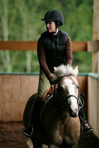 Dana goes Jockey on Mattie.