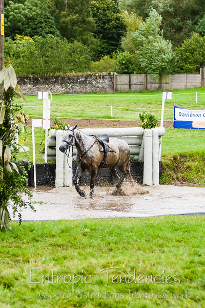 Thirlstane Horse Trials 2007 - Horse and rider fall at the cross-country water jump
