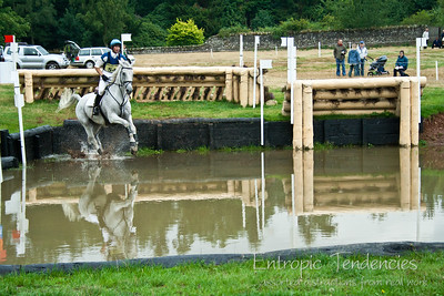 Thirlstane Horse Trials 2006 - Cross-country water jump