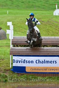 Thirlstane Horse Trials 2007 - Cross-country water jump