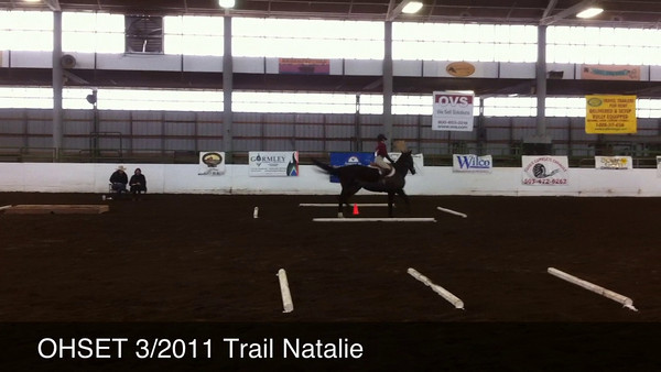 Natalie and Carmina - Trail. This was Carmina's first exposure to the Trail event.  They had never practiced any of this before.
