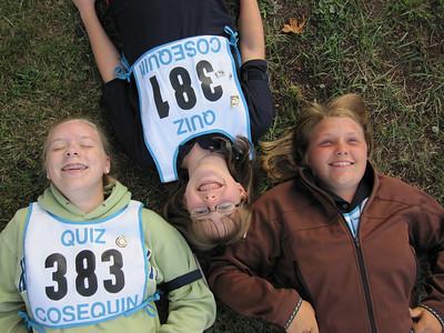 The Senior C quiz team. Sarah, Natalie and Sierra
